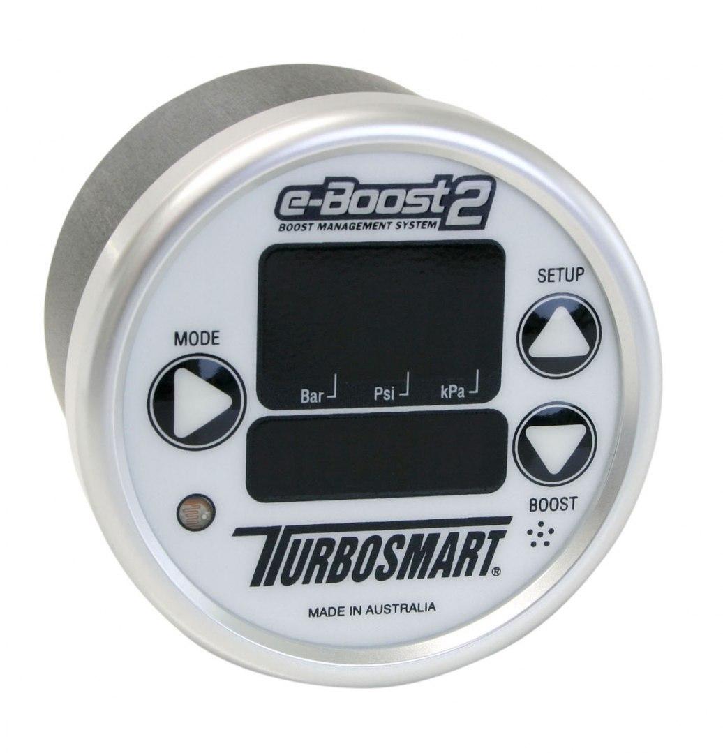 Turbosmart Electronic Boost Controller EBOOST2 60MM White-Silver - GRUBYGARAGE - Sklep Tuningowy